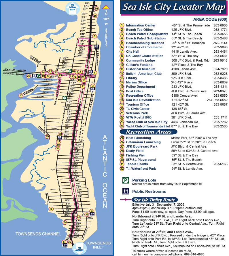 Map Of Sea Isle City Nj SEA ISLE CITY DRIVING DIRECTIONS | ISLAND REALTY GROUP